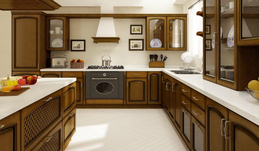 Kuchnie Drewniane  Wizualizacje Drewpol  Meble Kuchnne